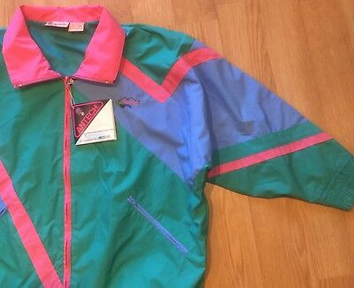 Analytical Antigua Antech L Large Multi Color Full Zip Front Rainwear Windbreaker Jacket High Quality