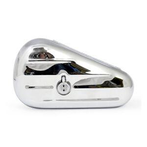 Verchromte-Teardrop-Toolbox-Werkzeugbox-links-fuer-Harley