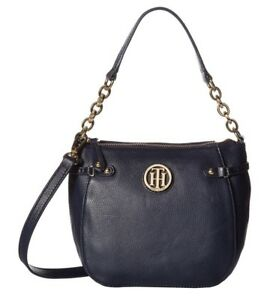 734562b3 Image is loading NWT-Tommy-Hilfiger-Sadie-Pebbled-Leather-Crossbody-Purse-