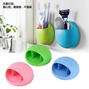 hot bathroom toothbrush holder wall mount suction cup toothpaste storage racks ebay. Black Bedroom Furniture Sets. Home Design Ideas