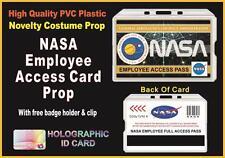 NASA Novelty EMPLOYEE ACCESS ID CARD - Space Stars Rocket - Halloween Prop - USA