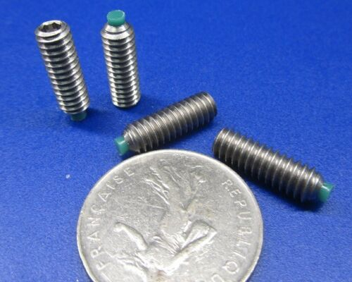 "1//4-20 x 3//4/"" Length 18-8 Stainless Steel Set Screws 10 Pieces Nylon Tip"
