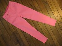 Diane Gilman Bright Pink Pull-on Stretch Jeggings Size Xs