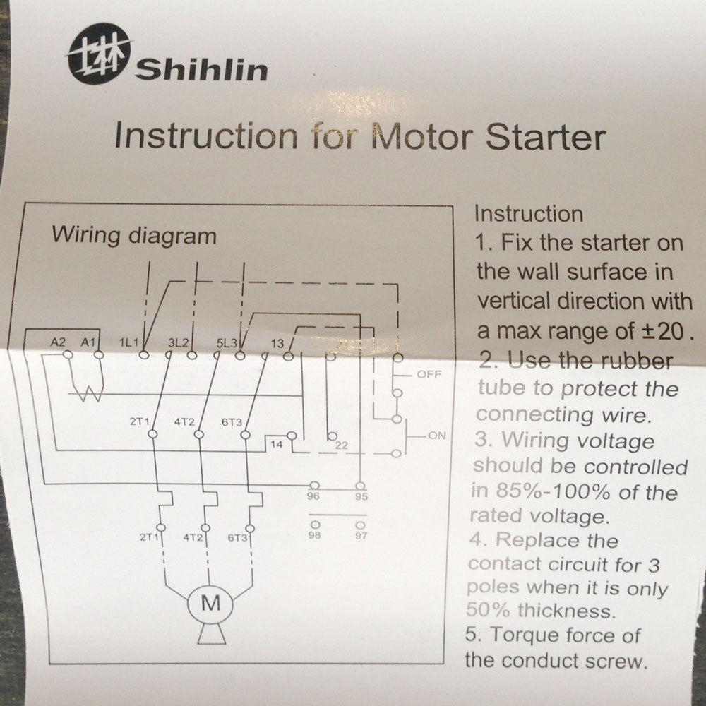 Shihlin Motor Starter Wiring Diagram from i.ebayimg.com
