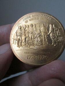 National-Bicentennial-US-Mint-Philadelphia-1st-Coining-Meeting-1776-1976-Bronze