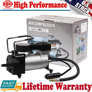 Atv,rv,boat & Other Vehicle Official Website 12v 150psi Portable Emergency Heavy Duty 2 Cylinder Car Air Compressor Tire Inflator Pump Universal For Car Trucks Bicycle Selling Well All Over The World Accessories