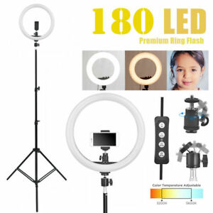 14 5500k Dimmable Diva Led Ring Light Diffuser Mirror Stand Make Up