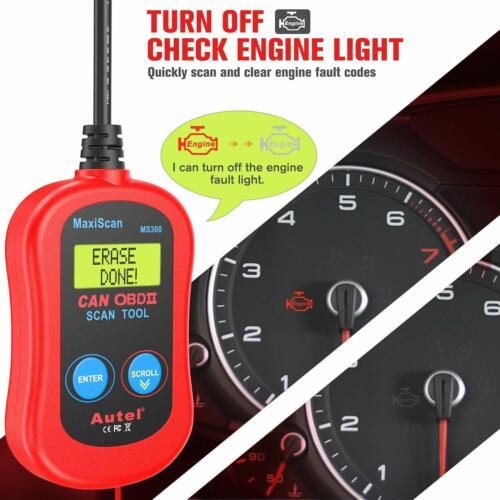 Autel MaxiScan MS300 OBD2 car Diagnostic Scan Tool Fault Code Reader Scanner US