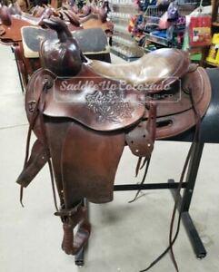 "13"" Used Fallis Balanced Ride Western Trail Saddle 3-1651-1"