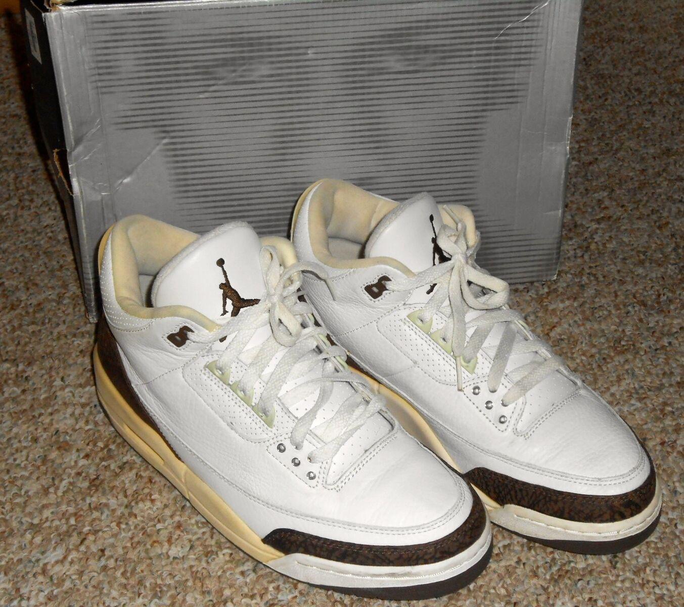 c1d8dc12bdb10 Nike Air Jordan 3 III Retro White / Dark Mocha Size 10.5 136064 121 With  Box. Men's Brand New Adidas Pureboost DPR Solebox Athletic Fashion Sneakers  ...