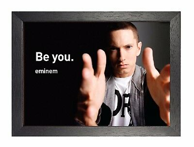 Eminem Be You Motivational Quote Photo Inspirational American Rapper Poster Ebay