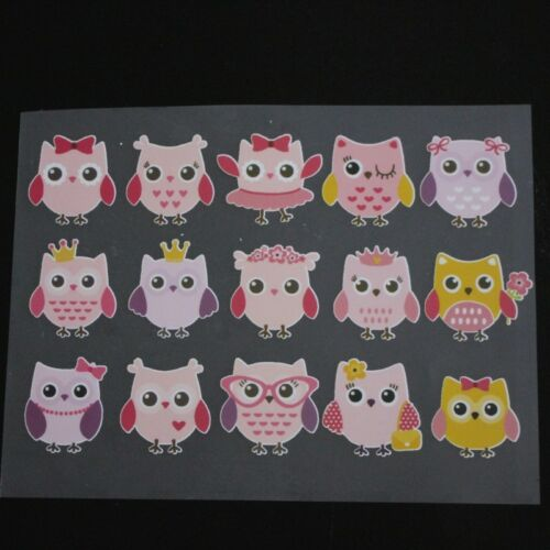 Cartoon Owl Patches T-shirt Heat Transfer Sticker Washable Iron On Appliques