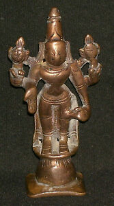 Asian Antiques Antique Traditional Indian Ritual Bronze Statue Of God Vishnu Rare Other Asian Antiques