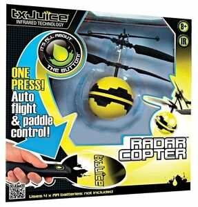 Schylling txJuice TX1001 Infrared Technology Indoor Flying Drone Radar Copter
