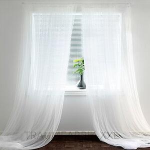 IKEA 2 rideaux FOULARDS rideau rideau tête de rideau rideau blanc ...