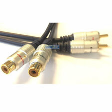 10m PRO Twin RCA Phono EXTENSION Cable 2 x Male to Female Audio Cable Lead GOLD