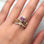 1-50Ct-Heart-Cut-Pink-Sapphire-Crown-Queen-Engagement-Ring-14K-Yellow-Gold-Over thumbnail 2
