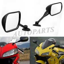 PAIR Motorcycle Black Side Mirrors for Honda CBR600RR CBR1000RR 2003-2008