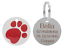 Personalised-Engraved-Round-Glitter-Paw-Print-Dog-Cat-Pet-ID-Tag-Small-Large thumbnail 8