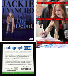 JACKIE-EVANCHO-signed-Autographed-034-THE-DEBUT-034-8X10-PHOTO-PROOF-Sexy-ACOA-COA