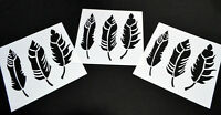 Feather 10 Pack Vinyl Airbrush Stencils Feathers 10 Mil Spray Paint Stencil 7