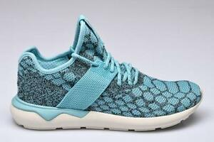 best service 3ed92 9b2ad Image is loading Adidas-Originals-Tubular-Primeknit-Shoes-Blue-Spirit-White-