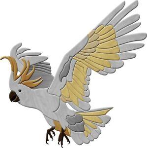 Aussie Intarsia Pattern - Sulphur Crested Cockatoo