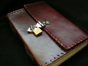 Con-Cerradura-Cuero-Secreto-Diario-Cuaderno-Bocetos-Candado-Cartucho-Carton
