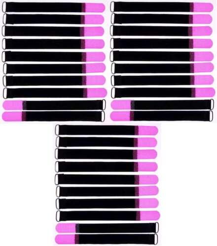 30x Câble Velcro Velcro 200 x 20 mm Neon Pink œillet Velcro Serre-câbles Velcro Bandes