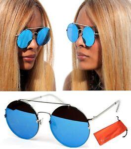 silber verspiegelt 70er-80er Retro Sonnenbrille 02