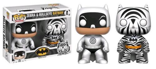 "Exclusive DC zebra /& bullseye batman 2 pack 3.75/"" POP vinyl figure FUNKO"