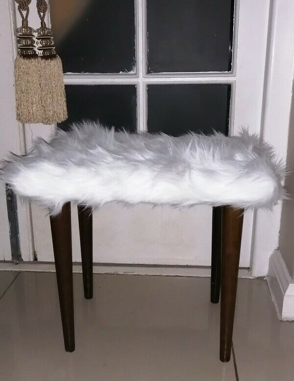 Faux Fur Vanity Stools and Scatter Cushions