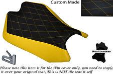 DIAMON STITCH YELLOW CUSTOM FITS APRILIA RSV4 R 1000 09-15 FRONT SEAT COVER