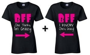 My BFF I Know Shes Crazy Gift for Best Friends Birthday Youth/&Kids T-Shirt