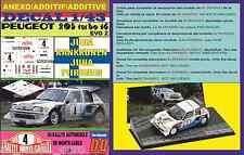ANEXO DECAL 1/43 PEUGEOT 205 T16 E2 JUHA KANKUNNEN R.MONTECARLO 1986 (01)