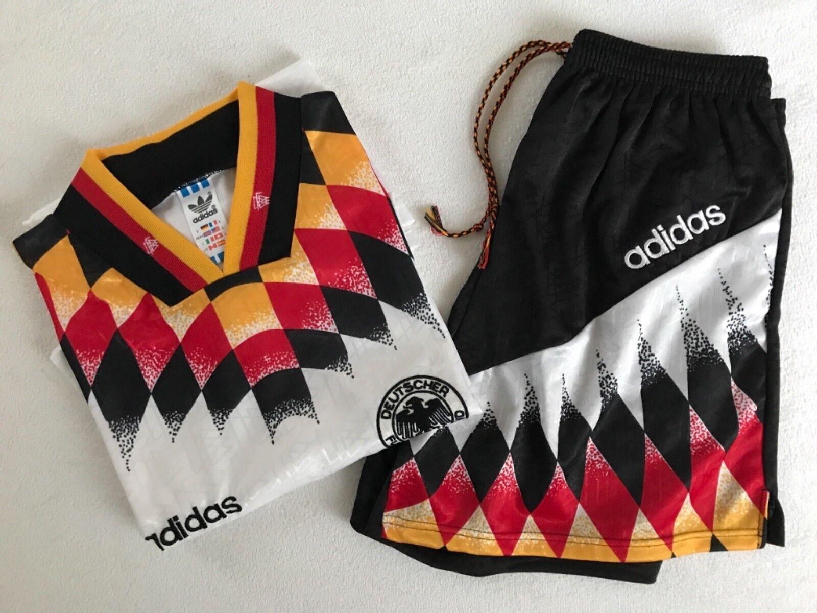 DFB Nationalmannschaft Trikot + Hose von 1994 / Gr. L / NEU