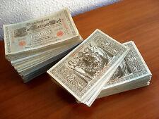 1000 Stück Eintausend Mark 1000 Mark Rotes Siegel 1910 konvolut lot