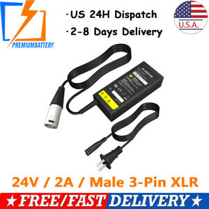 24V-2A-XLR-Electric-Battery-Charger-For-Hoveround-mpv5-Mobility-Chair-Scooter-p