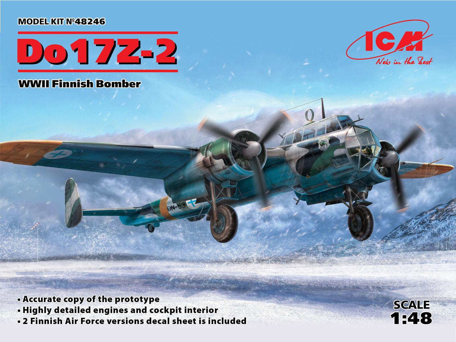ICM 1  48 Dornier Do -17Z -2 WWII Finsk Bomber