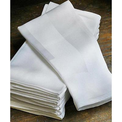 Premium Napkins Linen Wedding Restaurant Party Hotel Table Cloth White Serviette