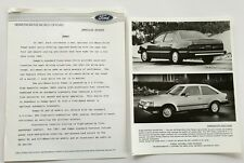 1987 Ford Tempo Original Car Product News Guide Brochure like