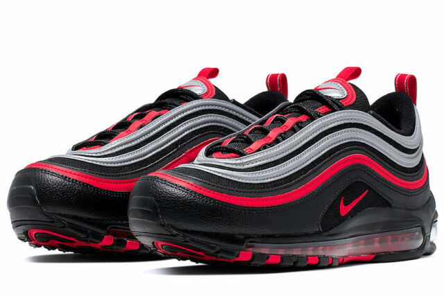Nike Air Max 97 Black Red Silver Running Shoes 921826 014 Men S Sz 11 For Sale Online Ebay
