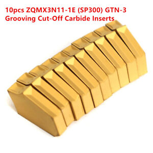 10pcs-ZQMX3N11-1E-SP300-Cut-Off-Grooving-Carbide-Inserts-For-ZQ2020-3-Lathe