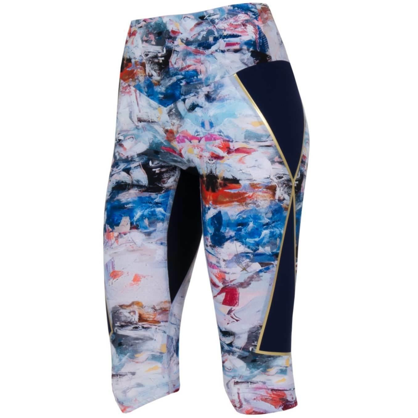 AUTH NWT LUCAS HUGH Nordica Capri Leggings Icebreaker Print  Sz Small