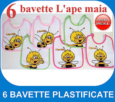 Lotto 6 Bavette Plastificate Ape Maia