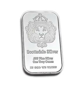 "1 oz Silver Bar ""The One"" by Scottsdale Silver .999 Fine Silver #A166"