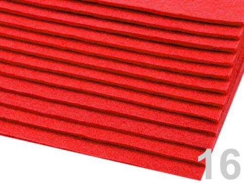 Filzplatte 20x30cmx3mm Schlüsselanhänger Filzstoff Bastelfilz rot