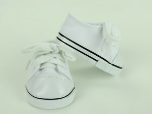 White-Sneakers-Fits-18-034-American-Boy-or-Girl-Doll-Clothes-Shoes