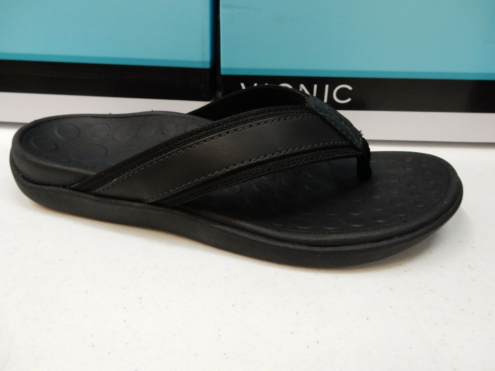 VIONIC MENS SANDALS TIDE BLACK SIZE 14