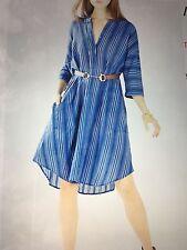 NWT BCBG Max Azria Kieley Striped Shirt Dress Vintage blue- Medium M $198